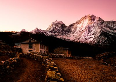 Sunrise in Phortse everest base camp trek