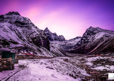 sunet in Dole everest base camp trek