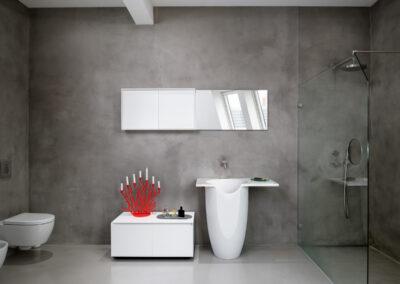 modernes badezimmer mit kerzen